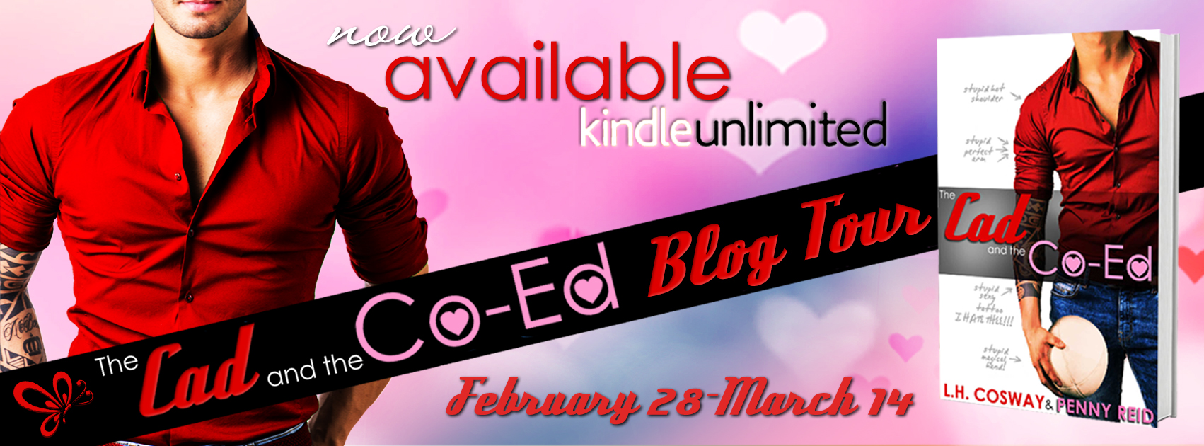 Blog Tour & Review ♥ The Cad and the Co-Ed by L.H. Cosway & Penny Reid