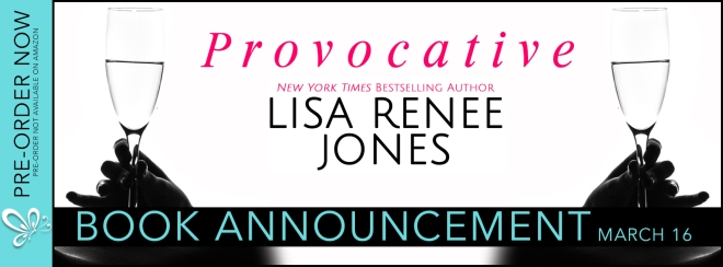 Promo Banner for Provocative by Lisa Renee Jones