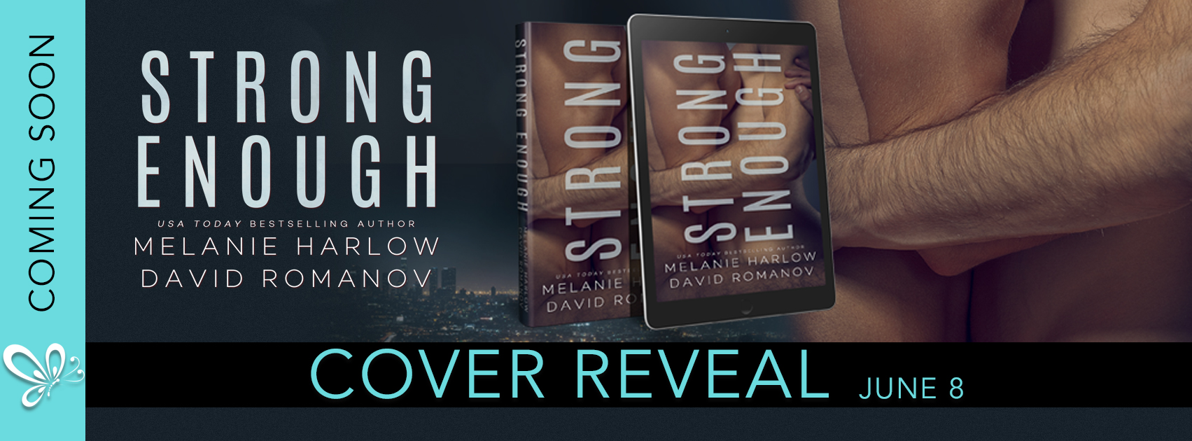 Cover Reveal: Strong Enough by Melanie Harlow and David Romanov