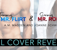 Dual Cover Reveal:  Taming Mr. Flirt & Scoring Mr. Romeo by AM Madden and Joanne Schwehm