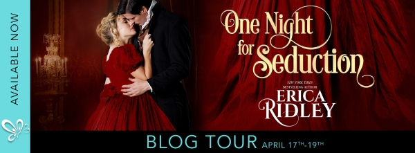 One Night for Seduction – blog tour banner